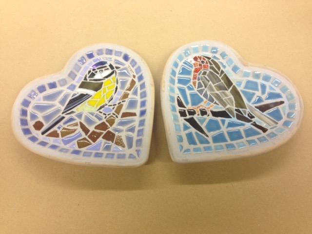 Vogel schaaltjes het hanengekraai woon tuindecoratie & mozaïek